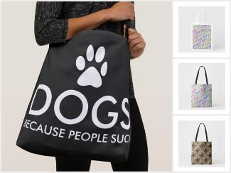 Dog-Themed Tote Bags
