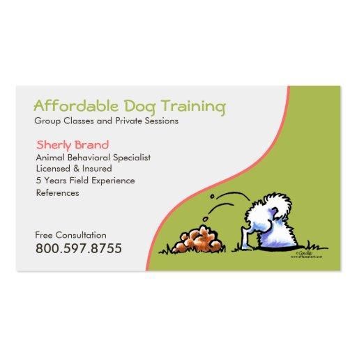 Dog Trainer Pet Business Naughty Samoyed Business Card ...