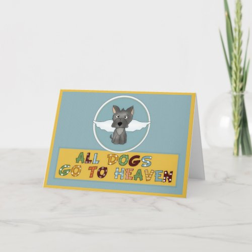 Dog's Go to Heaven Pet Sympathy Greeting Card 2
