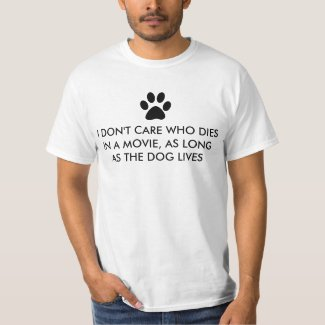 Dogs in Movies with Black Paw Print T-Shirt