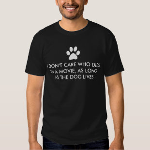 Dogs in Movies with White Paw Print Tee Shirt