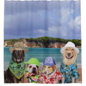Dogs on the Beach Shower Curtain
