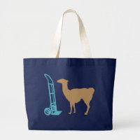 Dolly llama large tote bag