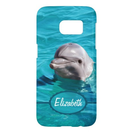 Dolphin in Blue Water Photo Samsung Galaxy S7 Case