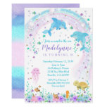 Dolphin Invitation, Dolphin Under the Sea Invite