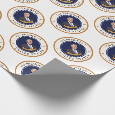 Donald Trump - 45th President of the United States Wrapping Paper