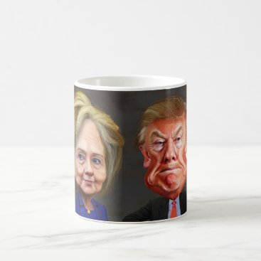 Donald Trump & Hillary Clinton Funny Coffee Cup