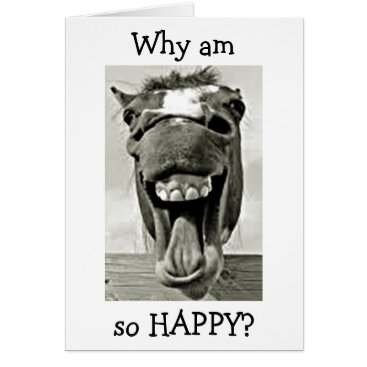"""DONKEY IS """"HAPPY"""" THAT """"U R MY MOM"""" MOTHER'S DAY CARD"""