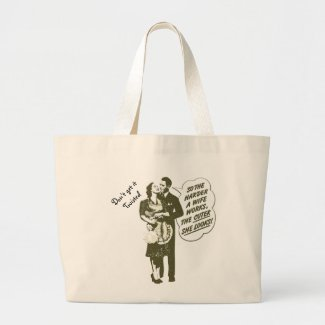 Don't Get It Twisted Funny Retro Couple Tote Bags