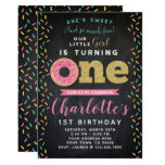 Donut 1st Birthday Invitation Chalkboard