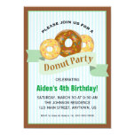 Donut Party for Child's Birthday Invitation