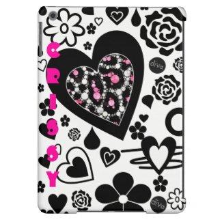 DOODLE Cheetah Heart Ipad Air Case