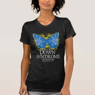 Down Syndrome Butterfly T-shirts