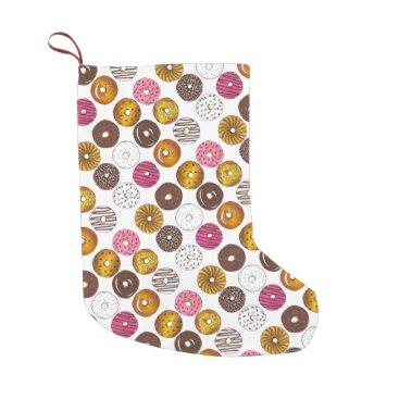 Dozen Donuts Doughnuts Breakfast Junk Food Foodie Small Christmas Stocking