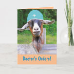 Cute Dr. Eli The Goat Get Well Card
