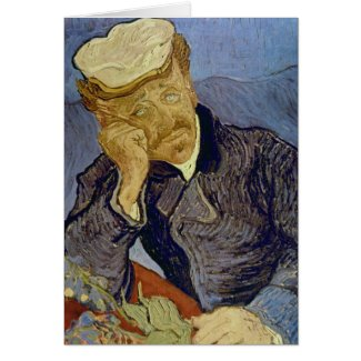 Dr Paul Gachet (2nd version) by Vincent van Gogh Cards