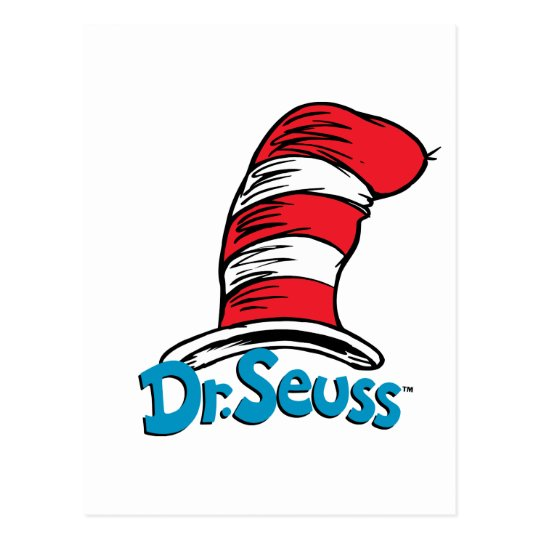 Dr Seuss Hat Logo Postcard