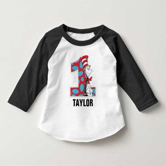 Dr Seuss The Cat In The Hat 1st Birthday T Shirt Zazzle Com