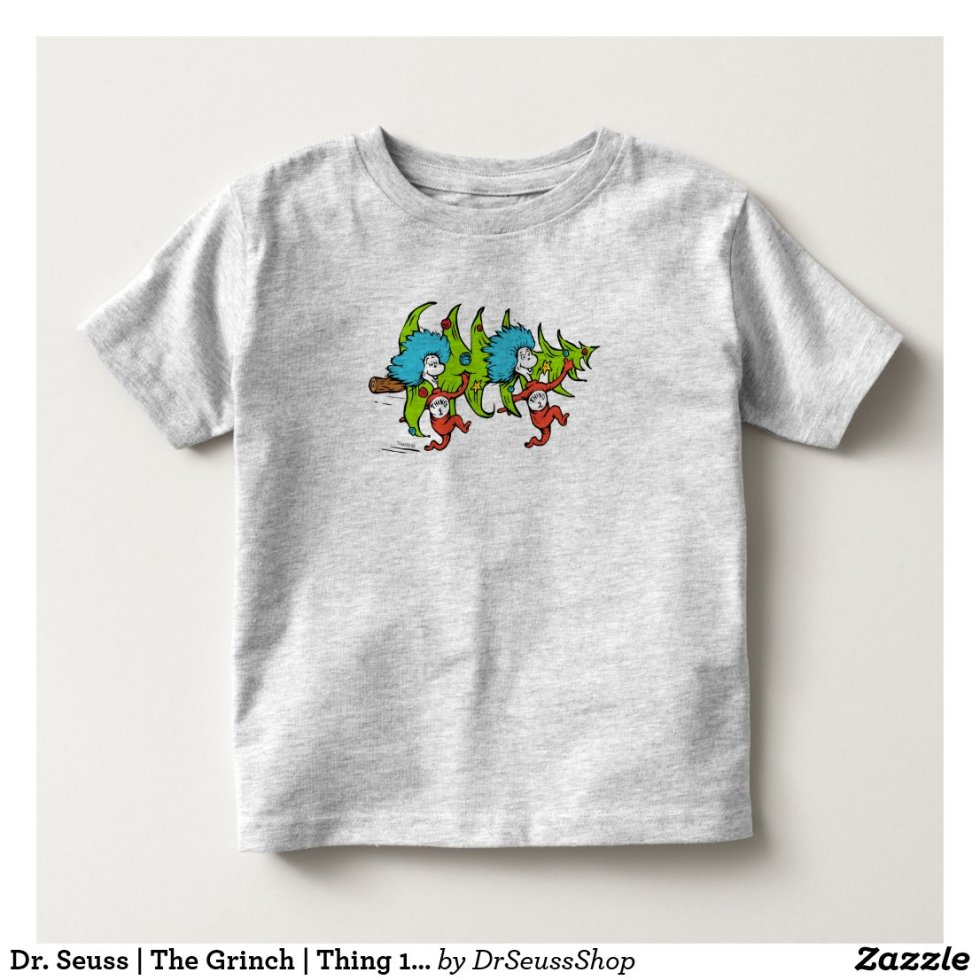 Dr. Seuss | The Grinch | Thing 1 Thing 2 Christmas Toddler T-shirt