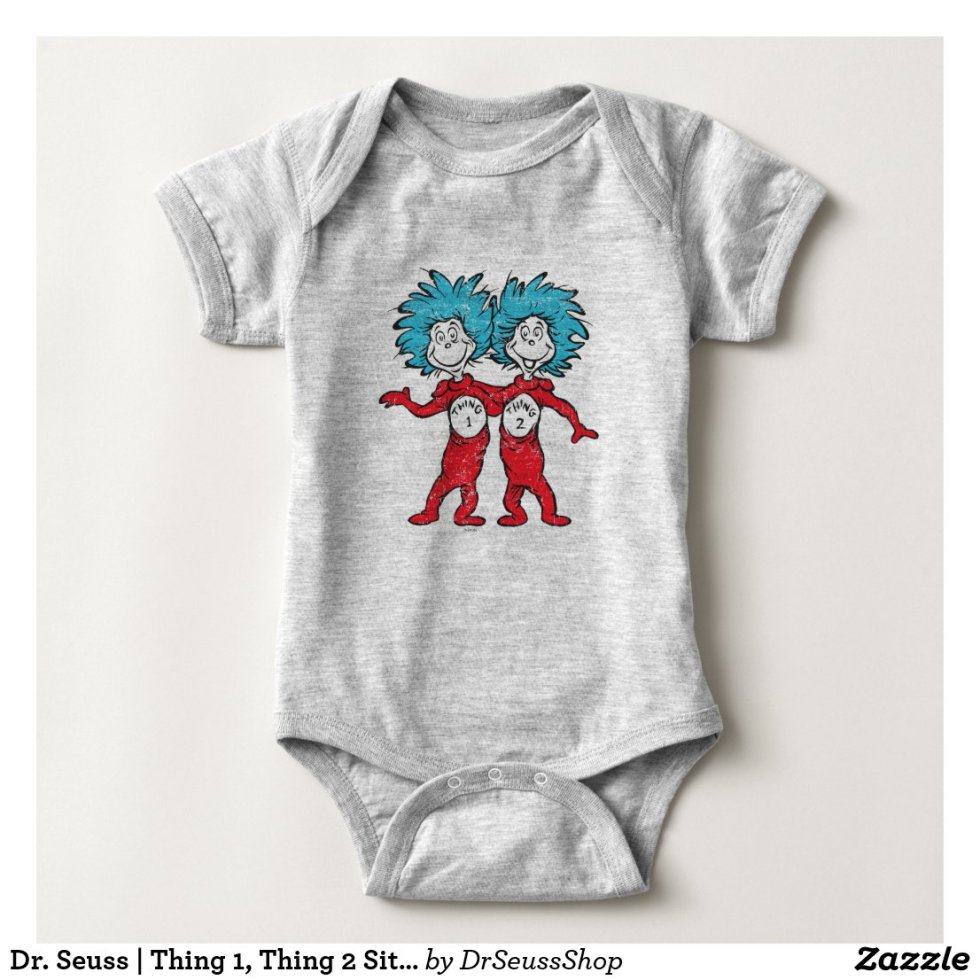 Dr. Seuss | Thing 1 and Thing 2 Baby Onesie - Baby Bodysuit