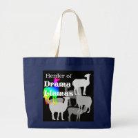 Drama Llama Herder Large Tote Bag