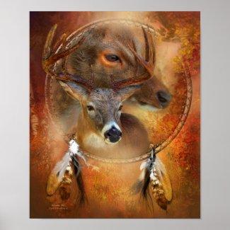 Dream Catcher Series - Autumn Deer Art Poster