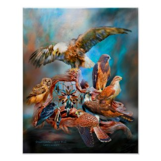 Dream Catcher_Spirit Birds Art Poster/Print
