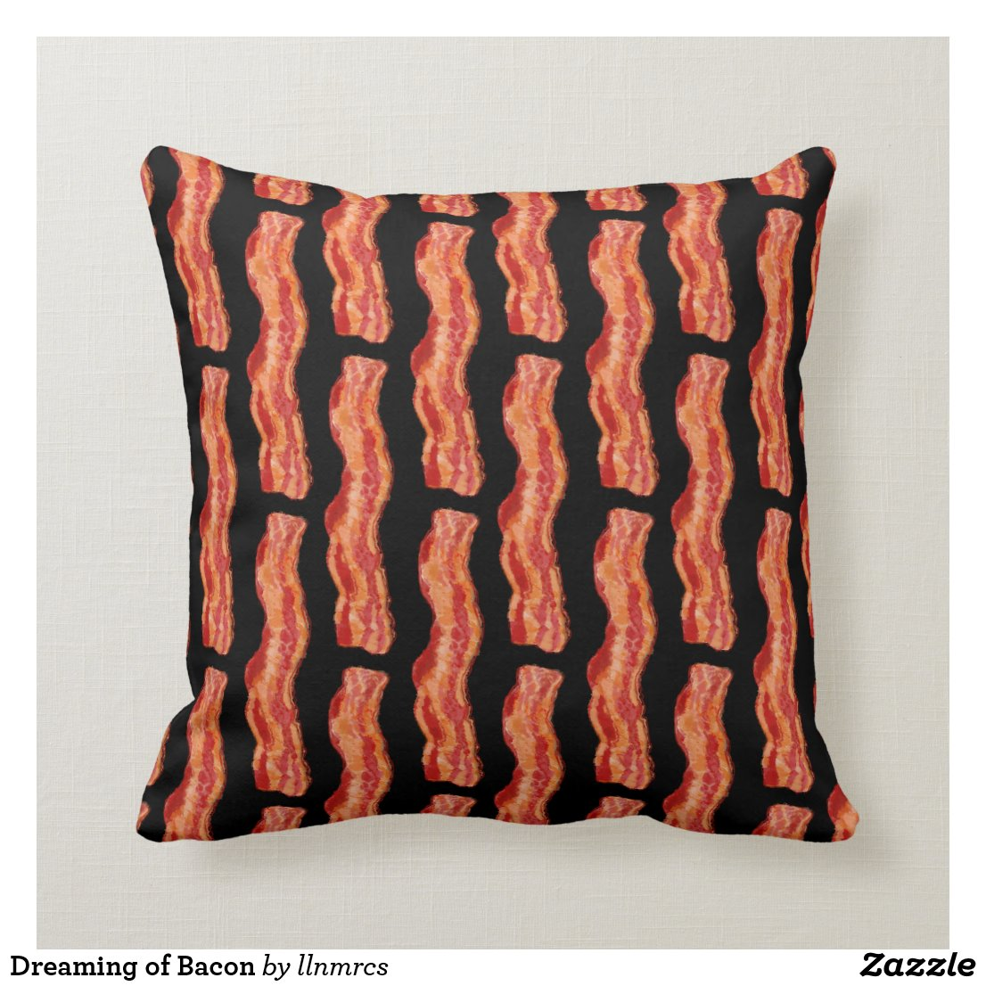 Dreaming of Bacon Throw Pillow