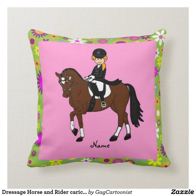 Dressage Horse and Rider caricature personalized