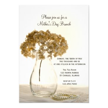 Dried Hydrangea Mother's Day Brunch Card