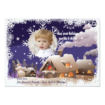 Drifting Snowflake - Photo Holiday Card
