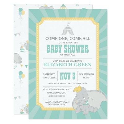 Dumbo Girl Baby Shower Invitation Zazzle Com