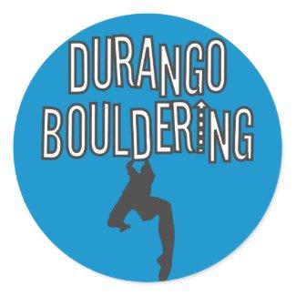 Durango Bouldering Round Sticker sticker