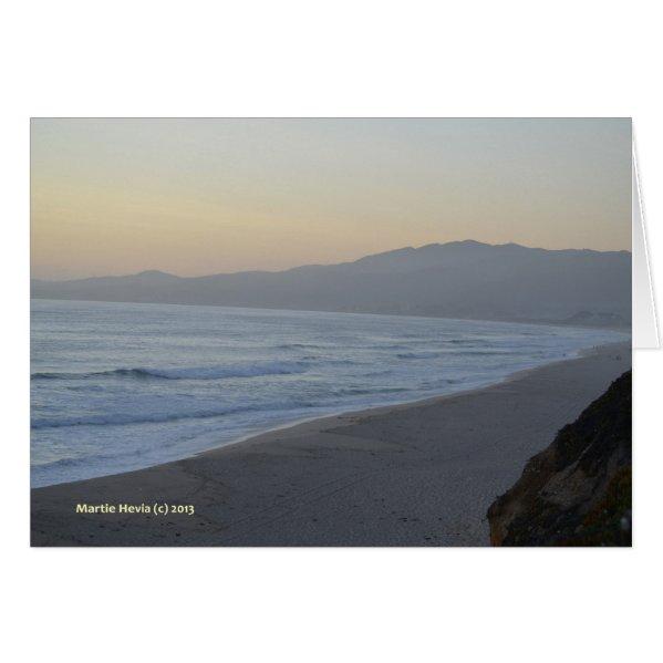 Dusky Beach Card