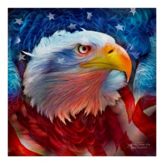 Eagle - Red White Blue Fine Art Poster/Print