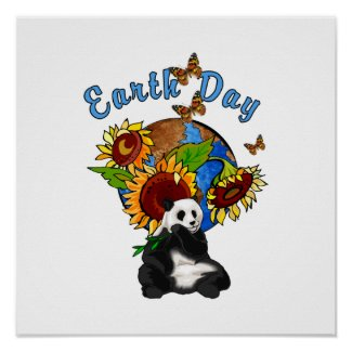 Earth Day Panda Planet print