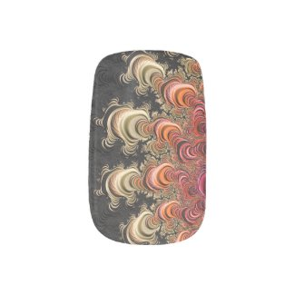 Earth Tone Twirls Fractal Minx Nail Art