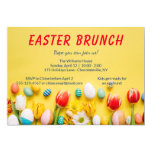Fun Spring Flowers Easter Brunch Invitation
