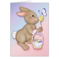 Easter Bunny and Butterfly Card