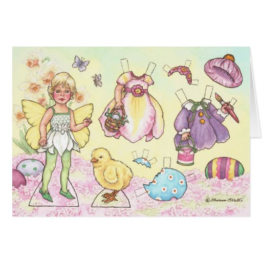 Easter Fairy Paper Doll Greeting Card Zazzle