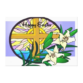 Easter Sunday Stretched Canvas Prints