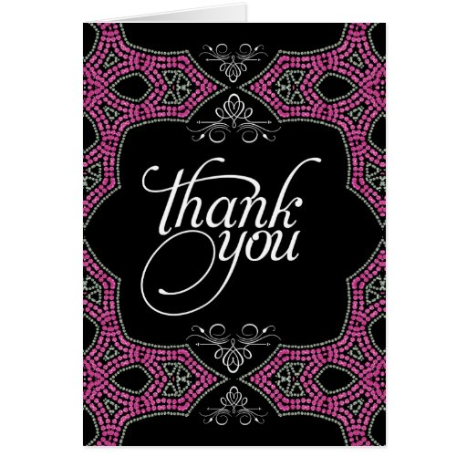 Eastern Sparkle Pink Thank You Card