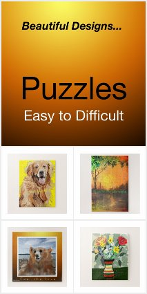 Easy, Fun, Challenging, Difficult Puzzles