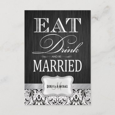 Eat Drink and be Married Wedding RSVP
