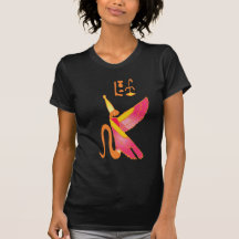 Egypt bird pattern tee shirt