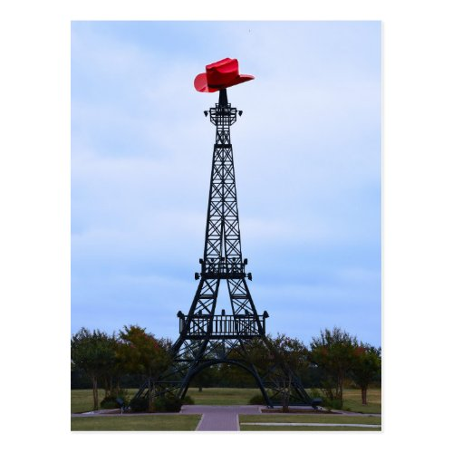 Eiffel Tower, Paris, Texas Post Card