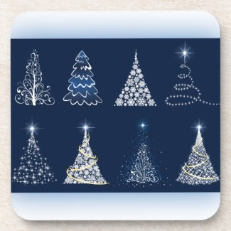 Eight Christmas Trees Coaster