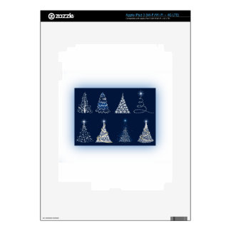 Eight Christmas Trees iPad 3 Skins