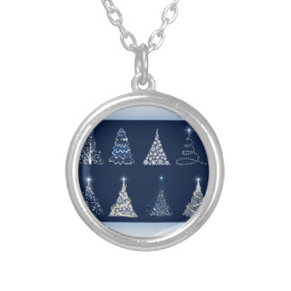 Eight Christmas Trees Necklace
