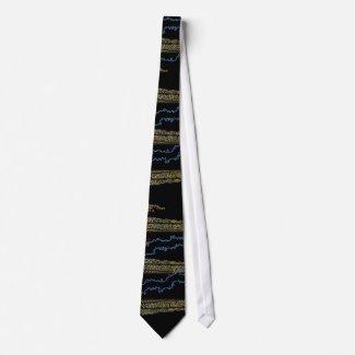 Electric Candela Mens Tie by CricketDiane tie
